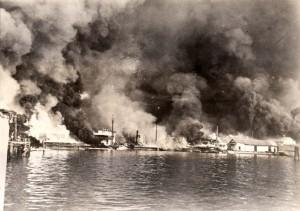 Manila Bombed by Japanese, 1941
