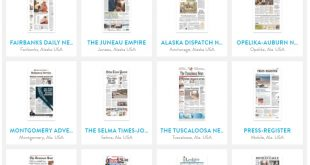 Browse frontpage newspapers from all over the USA