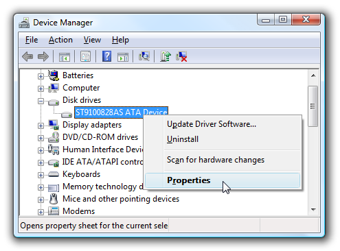 devicemanager1 - Speed up SATA Drives in Windows 7 or Vista