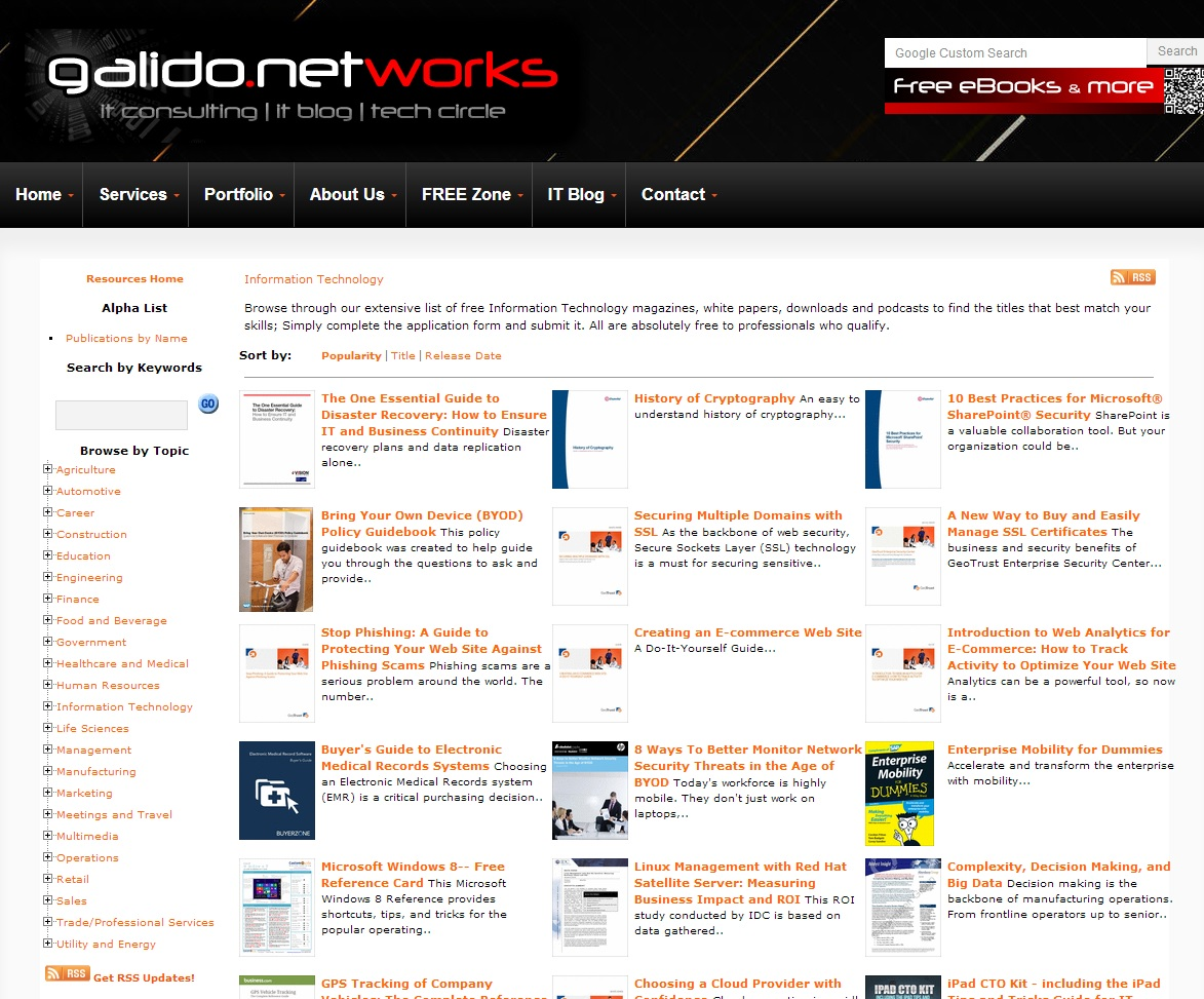 ebooks - Information Technology Articles