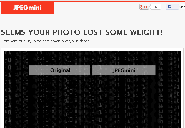 jpegmini - Optimize your Image File Sizes Free