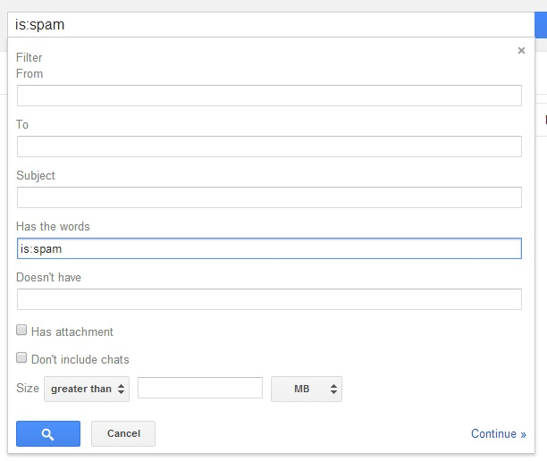 isspam - How to Turn Off Google Spam Filter