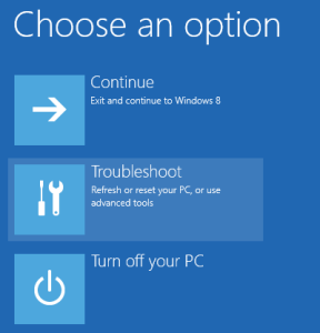 "troubleshootwin8 288x300 - How to fix ""Your PC needs to be repaired"" error"