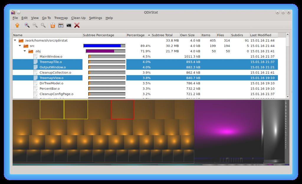QDirStat main win 1024x625 - Hard Drive Space Analyzer for Windows, Linux, and Mac OS