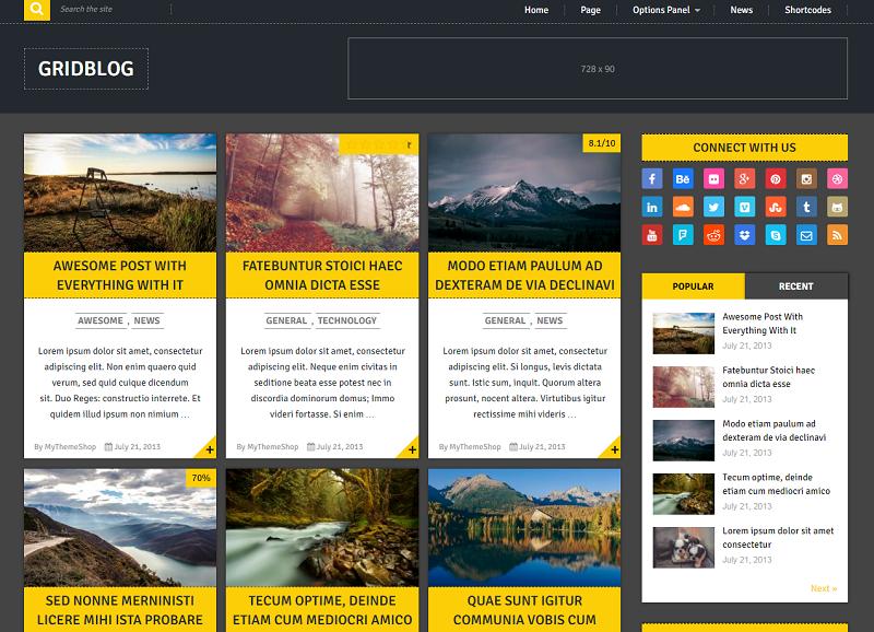 gridblog - Best WordPress Blog Themes