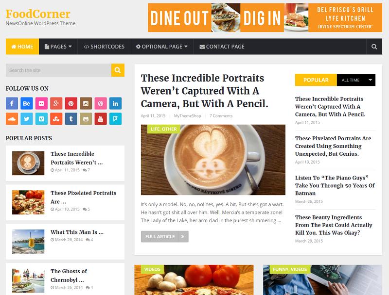 newsonline - Best WordPress Blog Themes