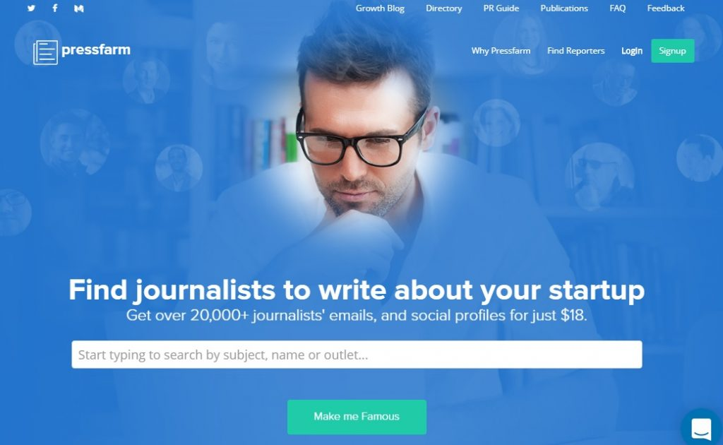 pressfarm 1024x630 - Super Useful Tools to Build Your Tech Reporter Contact List and Startup