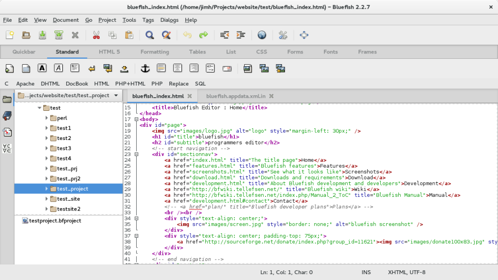bluefish 1024x576 - The Best Code Editors for Linux