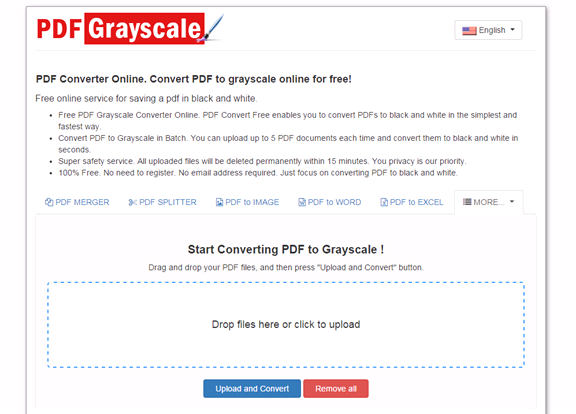 PDF Grayscale - How to turn colorful PDF to grayscale online?