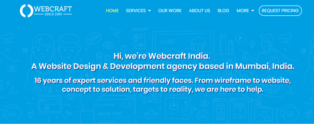 webcraft 1024x405 - Top Website Design Companies in India For Design & Development Web Services