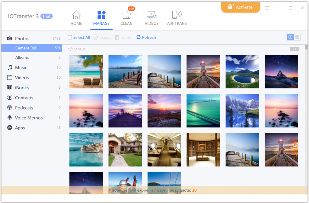 5.manage photos 1024x673 - IOTransfer, an iPhone/iPad Manager/ Video Downloader Review
