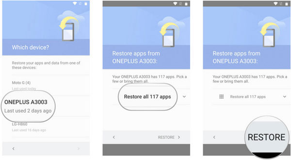 restore android phone data from google backup1 - How to Transfer Data from Android to Android in One Click
