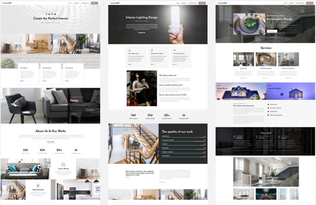 Interior Website Homepage Design Interior AMP 1024x666 - Free Bootstrap Templates That Inspire Anyone