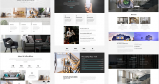 Interior Website Homepage Design Interior AMP 310x165 - Free Bootstrap Templates That Inspire Anyone