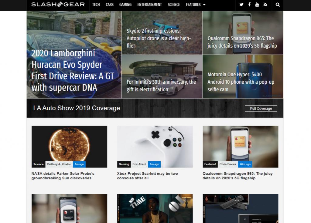 SlashGear 1024x736 - For Tech Lover: Top 20 Best Tech Websites & Blogs That Must Visit!!