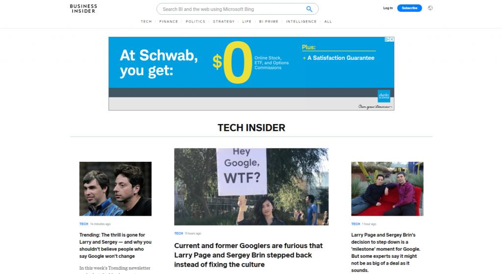Tech Business Insider 1024x559 - Top 20 Tech Websites & Blogs To Follow in 2020
