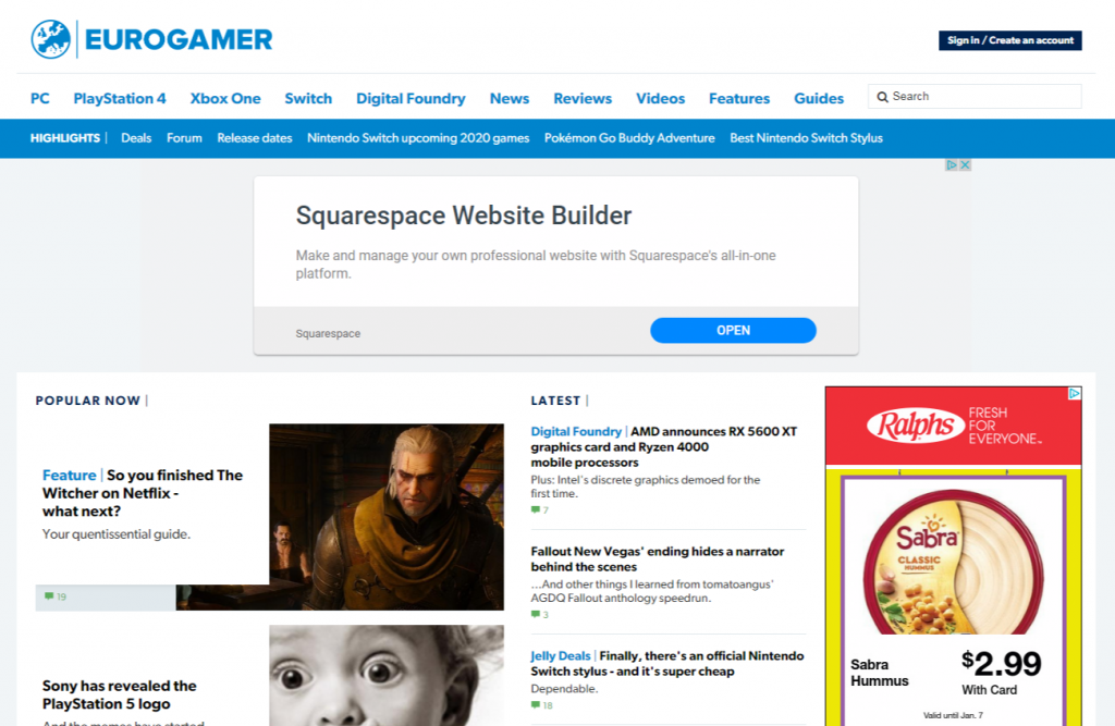 Eurogamer.net  1024x667 - For Tech Lover: Top 20 Best Tech Websites & Blogs That Must Visit!!