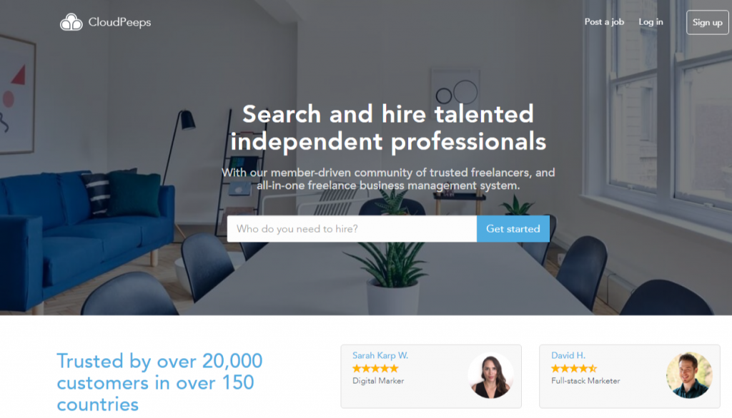 CloudPeeps – discover the best freelance talent and jobs 1024x586 - Best Freelancing Websites To Get Remote Work in 2020
