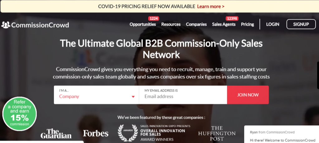 Connect companies and independent sales agents CommissionCrowd 1024x460 - Best Freelancing Websites To Get Remote Work in 2020