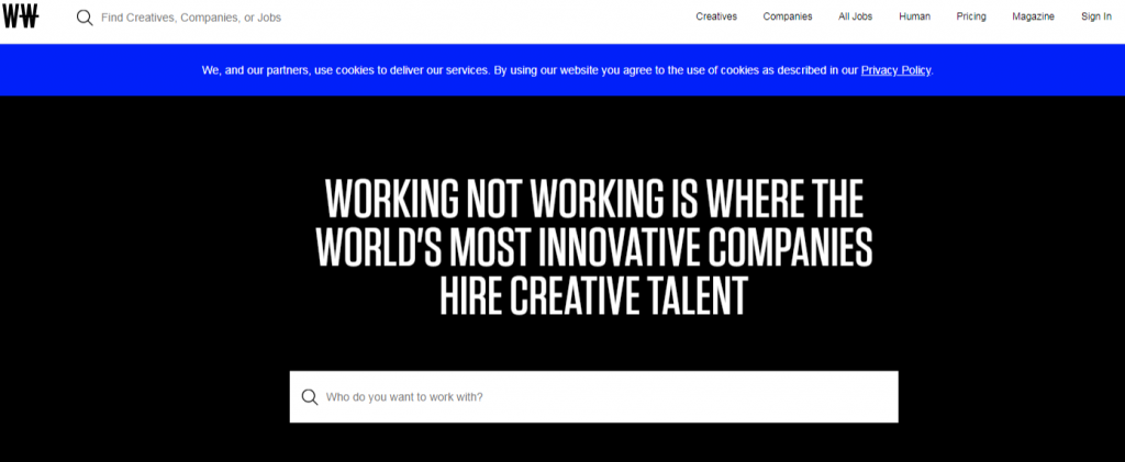Connecting companies with the universes most creative creatives WNW 1024x421 - Best Freelancing Websites To Get Remote Work in 2020