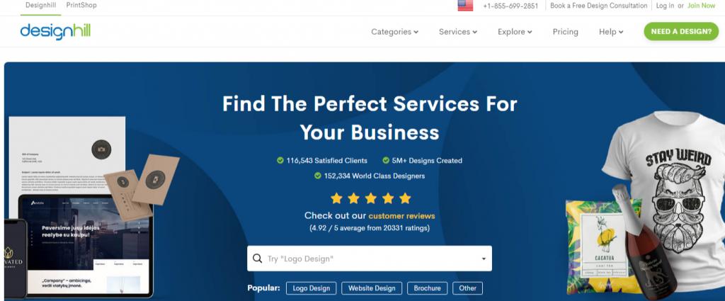 Design Services DIY Tools Print on Demand Merch Designhill 1024x425 - Best Freelancing Websites To Get Remote Work in 2020