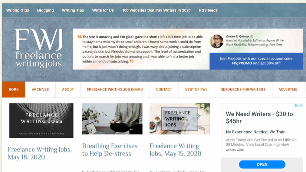 Freelance Writing Jobs Freelance writing resources jobs gigs and advice 1024x577 - Best Freelancing Websites To Get Remote Work in 2020