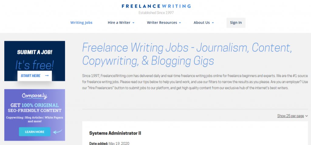 Freelance Writing Jobs Real Time Updates Find a Job Now FreelanceWriting 1 1024x479 - Best Freelancing Websites To Get Remote Work in 2020