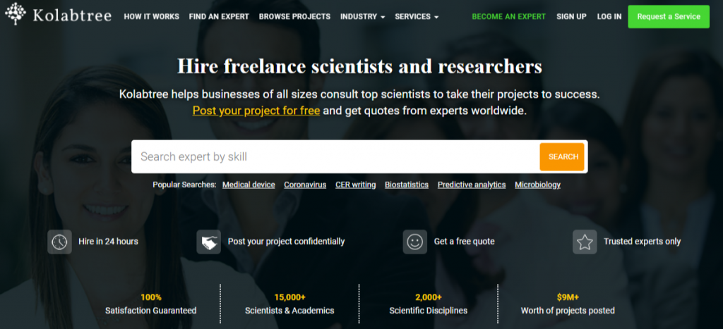Hire freelance scientists and researchers at Kolabtree 1024x467 - Best Freelancing Websites To Get Remote Work in 2020