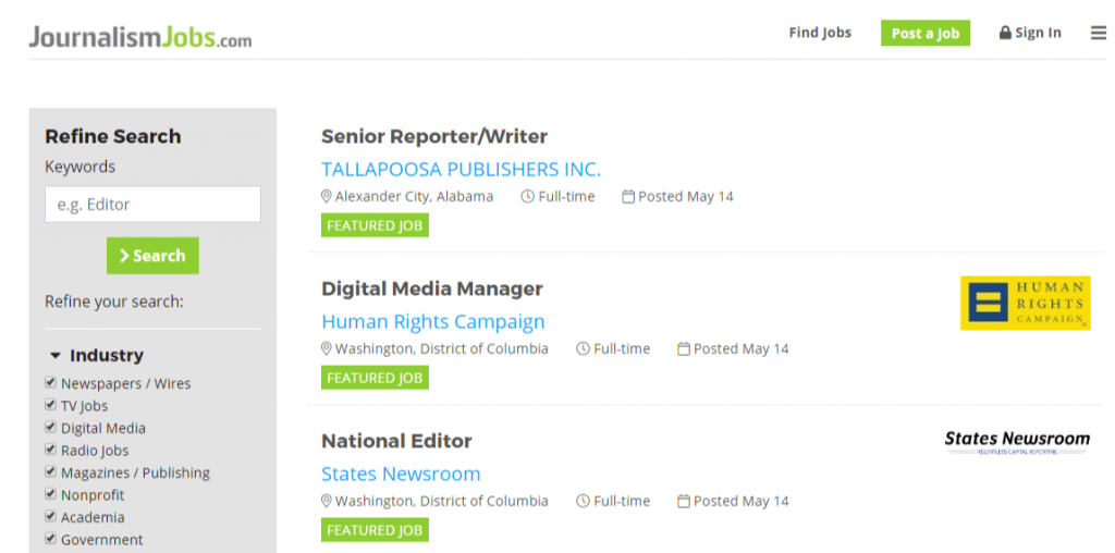 JournalismJobs.com The Job Board for Media Professionals 1024x508 - Best Freelancing Websites To Get Remote Work in 2020