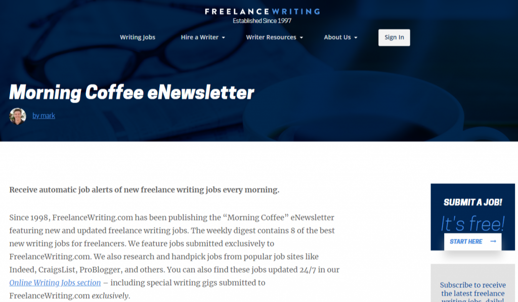 Morning Coffee Newsletter Freelance Writing 1 1024x598 - Best Freelancing Websites To Get Remote Work in 2020