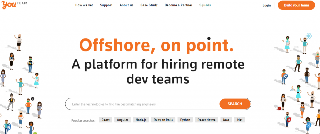 YouTeam Hire remote teams of developers 1024x429 - Best Freelancing Websites To Get Remote Work in 2020