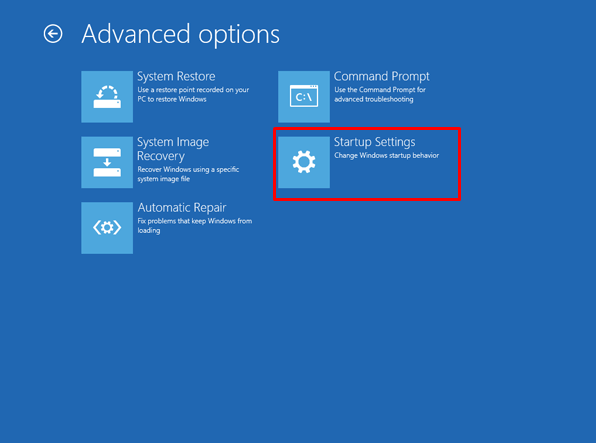 7 pick the Startup Settings - How to Reset Lenovo Laptop Password If Forgot in Windows 7/8/10