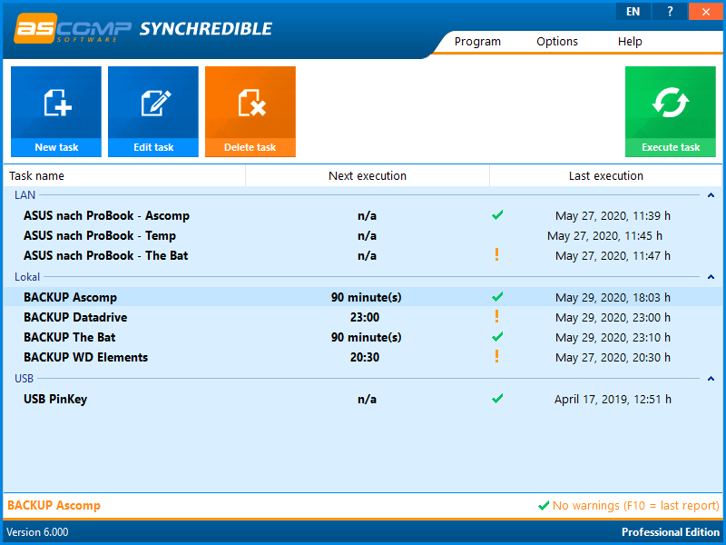Synchrediblescreen 01 - Synchredible: synchronize folders and drives