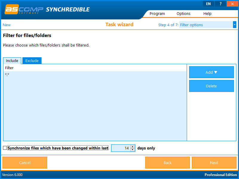 Synchrediblescreen 05 - Synchredible: synchronize folders and drives