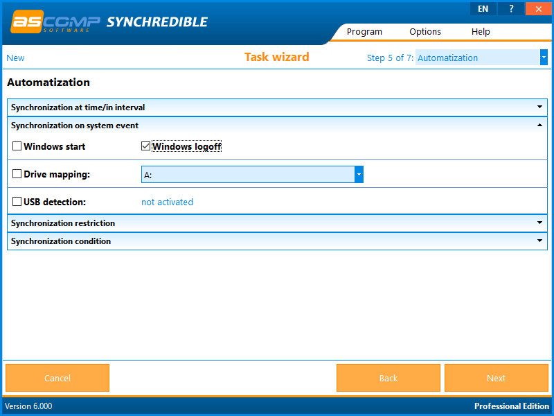 Synchrediblescreen 06 - Synchredible: Synchronize folders and drives