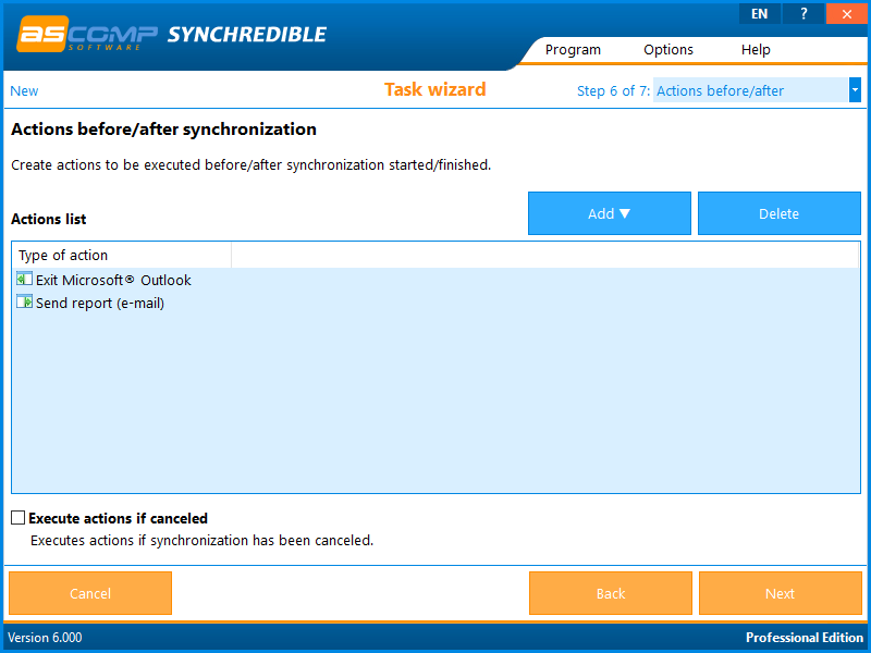 Synchrediblescreen 07 - Synchredible: Synchronize folders and drives