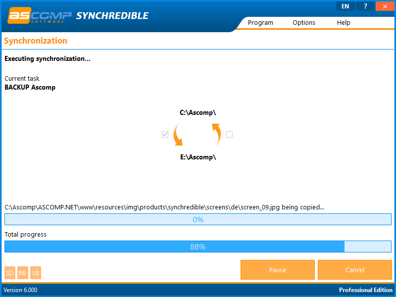 Synchrediblescreen 09 - Synchredible: Synchronize folders and drives