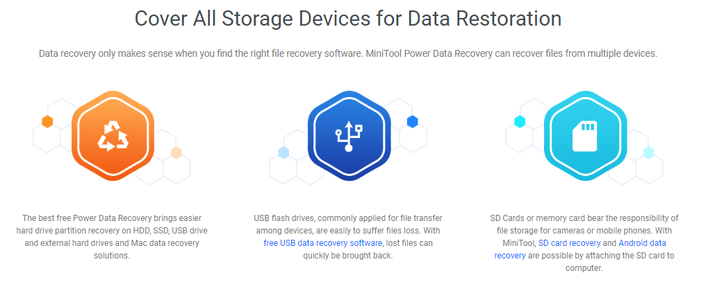 minitool devices - MiniTool Power Data Recovery Review