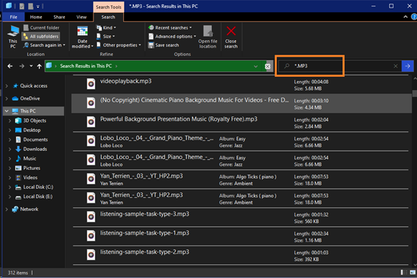 howtofindmusicfiles4 - How to Search and Find Music Files in Windows 10