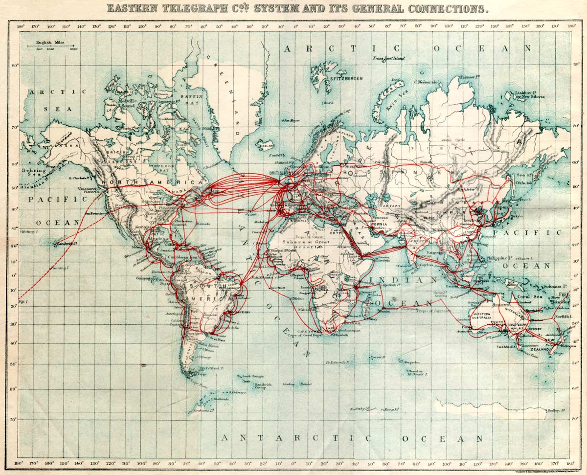 Historical Submarine Cable Map