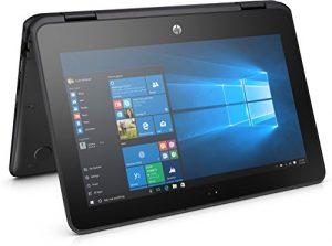 HP ProBook x360 11.6″ G1 EE Notebook, LED HD Touchscreen, Intel Celeron N3350 Dual-Core 1.1GHz, 4GB DDR3, 64GB SSD eMMC, 802.11ac, Bluetooth 4.2, Win10Pro – 64Bit