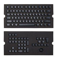CORSAIR PBT Double-shot Keycaps Full 104/105-Keyset – RGB & Backlit Compatible – For Mechanical Keyboards – FPS MOBA MMO – Black