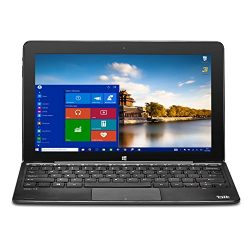 Bit W10046APB CORE+ Windows 10 detachable PC, Cherry Trail CPU, 4GB RAM 64GB storage, HD touchscreen, 10.1″, Black