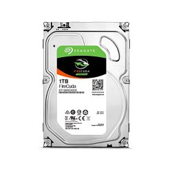 Seagate 1TB FireCuda Gaming SSHD (Solid State Hybrid Drive) – 7200 RPM SATA 6Gb/s 64MB Cache 3.5-Inch Hard Drive (ST1000DX002)