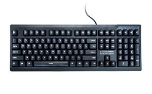 Zalman ZM-K650WP Water-Proof Washable Keyboard with Anti-Ghosting, Black