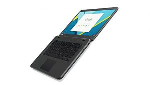 Lenovo 80VJ0002US N42 14″ Touch Chromebook, Intel Celeron N3060, 2GB RAM, 16GB Flash Storage, Chrome OS, Black