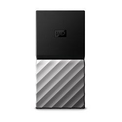 WD 256GB My Passport SSD Portable Storage – USB 3.1 – Black-Gray – WDBK3E2560PSL-WESN