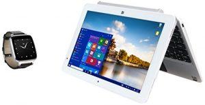 Bit CORE+ 10.1 Windows 10, 2 in 1 detachable PC – with Bonus Full Function Bit Smart Watch (W10046APS+S1CS)