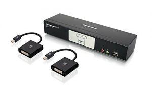 IOGEAR 2-Port Dual-Link DVI and Mini DisplayPort KVMP Kit with 7.1 Audio, TAA Compliant, GCS1782MDPKIT
