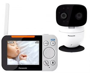 PANASONIC Video Baby Monitor with 2 Way Talk, Extra Long Range, Clear Night Vision, Lullaby & White Noises